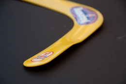 Yellow boomerang